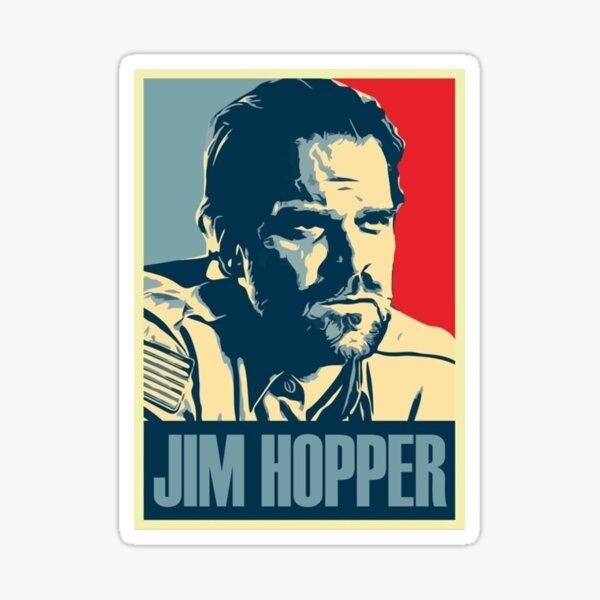 Jim Hopper Old School Stranger Things Sticker