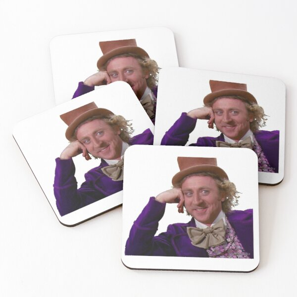 Willy Wonka And The Chocolate Factory Coasters (Set of 4)
