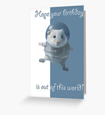 Hamster Astronaut  Greeting Card
