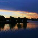 Panorama of Carrara Wetlands Evening Storm  by Virginia McGowan