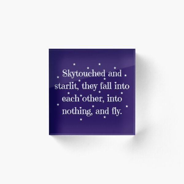 Skytouched and Starlit Acrylic Block