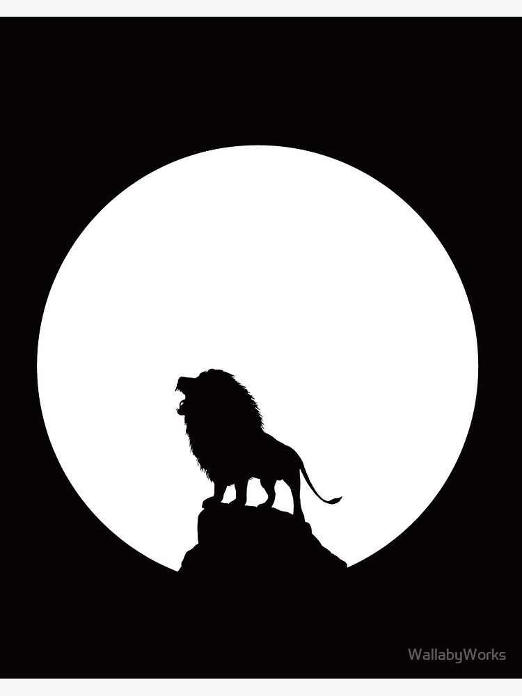 Circle Of Life King Of The Pride Lion Silhouette In The Sun Art Board Print By Wallabyworks Redbubble Find here the best lion drawing silhouette images that will give your works the best and beautiful look. redbubble