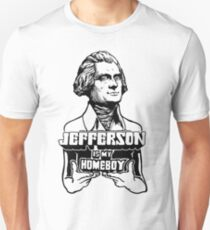Camiseta ajustada Jefferson es mi Homeboy