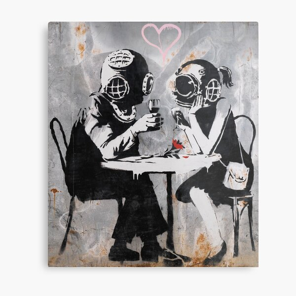 Banksy Think Tank, Banksy Art, Banky Merchandise Metal Print