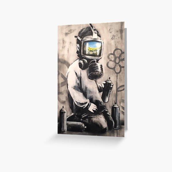 Banksy Bloomin Kids Greeting Card