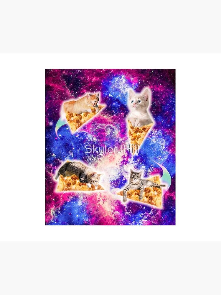 Galaxy Space Pizza Cat by SkylerJHill