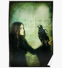 Girl with Magpie Poster