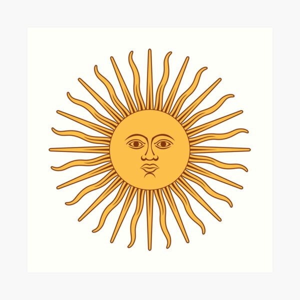 Argentina Sun of May  Art Print