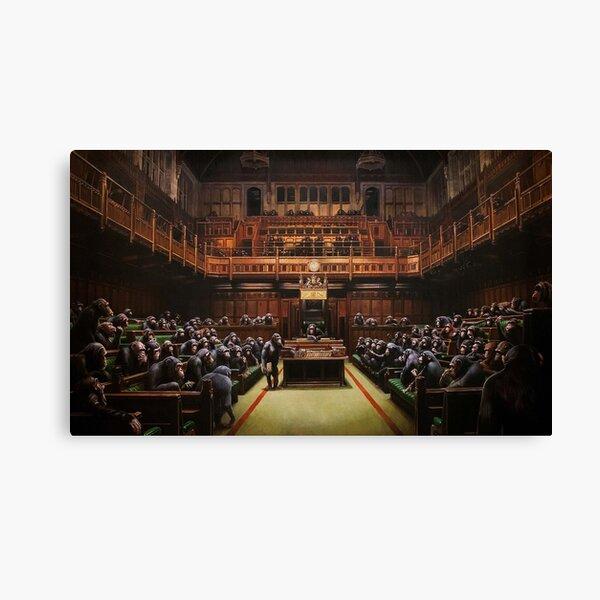 Banksy Devolved Parliament. Banksy Art Canvas Print