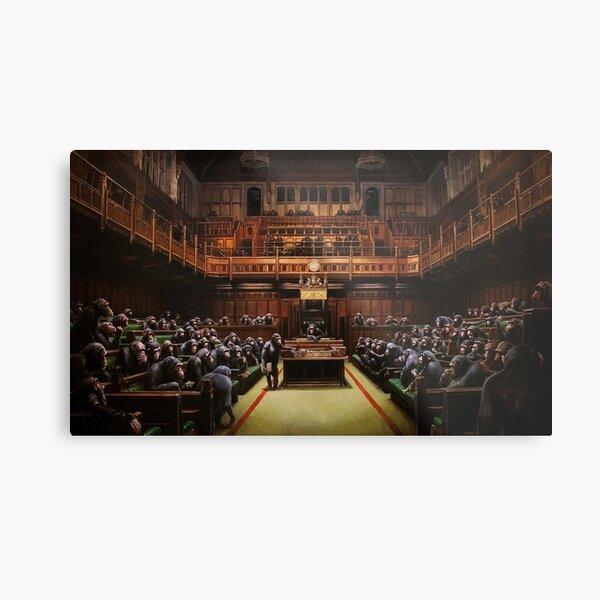 Banksy Devolved Parliament. Banksy Art Metal Print