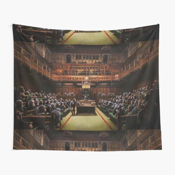 Banksy Devolved Parliament. Banksy Art Tapestry