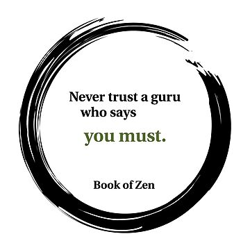 Inspirational Quote About Gurus by bookofzen