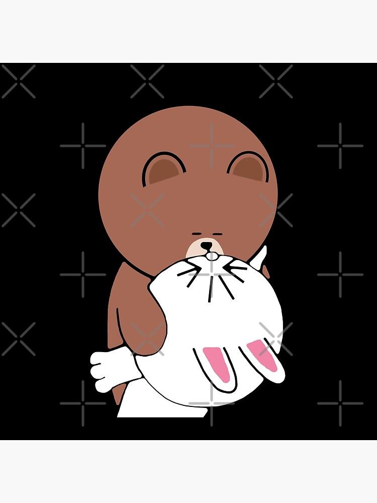 Cute brown bear cony bunny rabbit the kiss by tommytbird