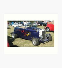 Dark Blue 1932 Ford Convertible. Art Print