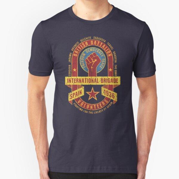 International Brigade - British Battalion Slim Fit T-Shirt