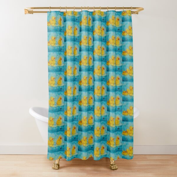 Rubber duckie family Shower Curtain
