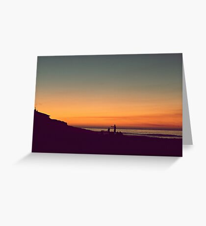 we drifted upon the sighs of summer Greeting Card