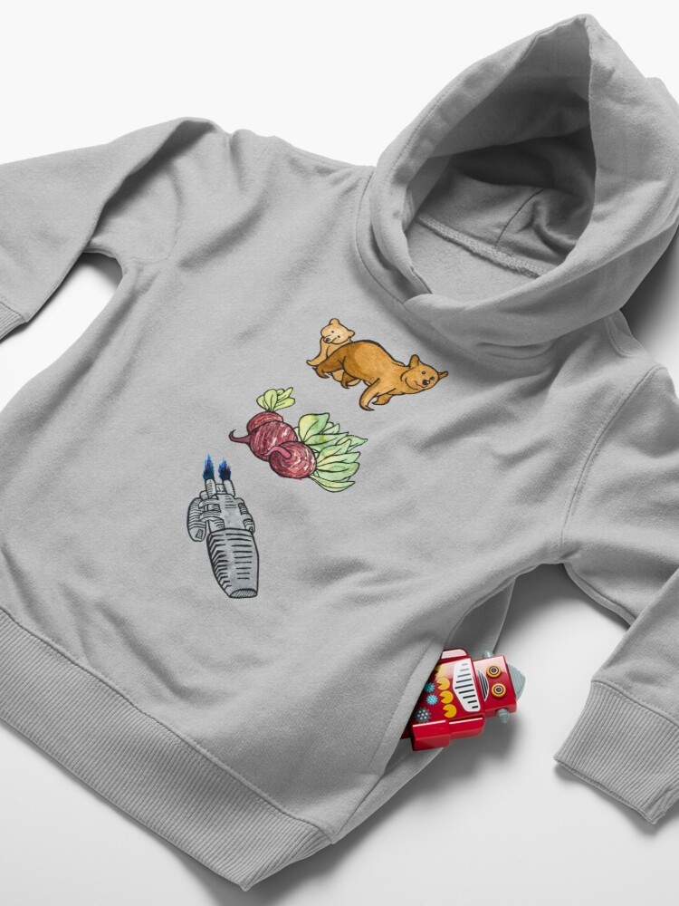 Alternate view of Bears, Beets, Battlestar Galactica - The Office Toddler Pullover Hoodie