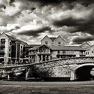 Nottingham Canal b&w  by Richard Jackson
