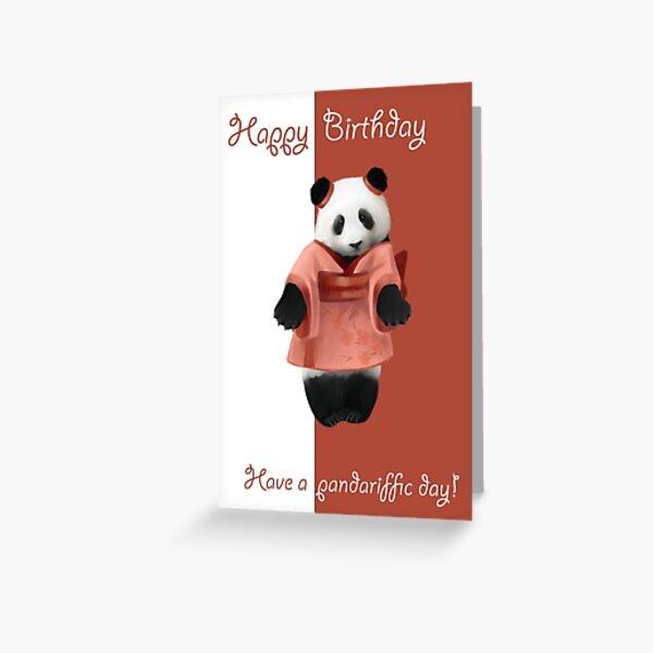 Japanese panda Greeting Card