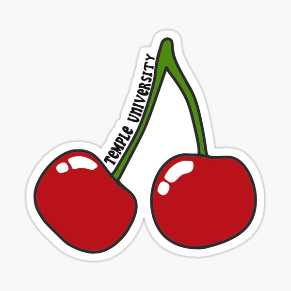 temple cherry Sticker