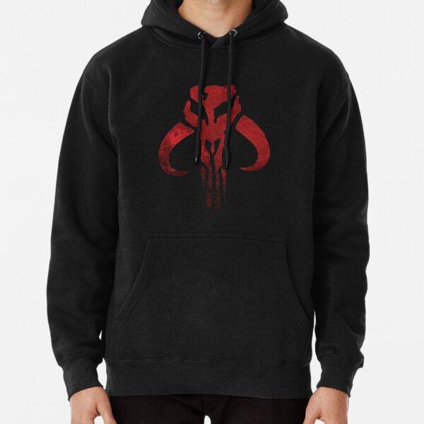 Grunge Distressed Mandalorian Logo Pullover Hoodie