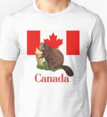 Canadian Flag and Beaver Unisex T-Shirt