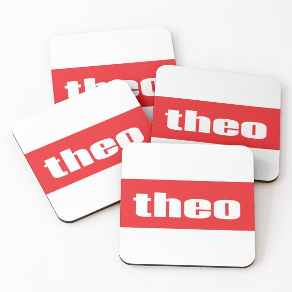 Theo Name Meaning Drinks Mat Coaster Floral