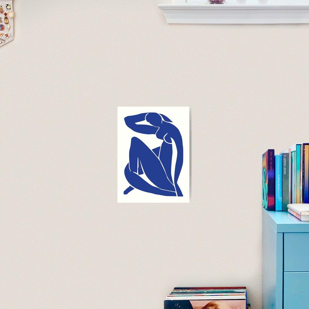 Henri Matisse - Nu Bleu II (Blue Nude) - The Cut Outs Art Print