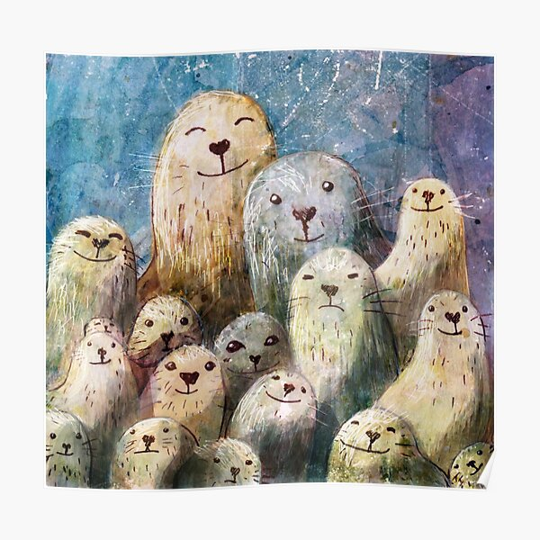 Seal Family Poster