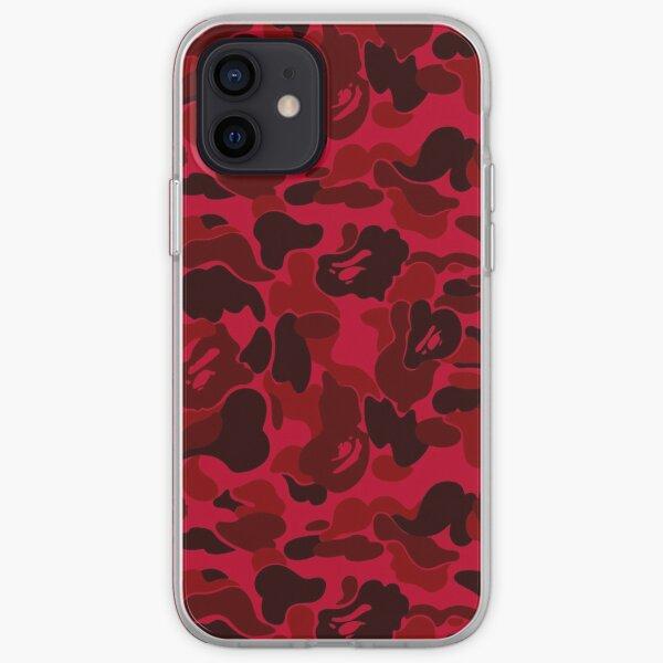 BAPE CAMO (DARK RED) Coque souple iPhone