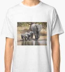 Elephant Mom and Babies Classic T-Shirt