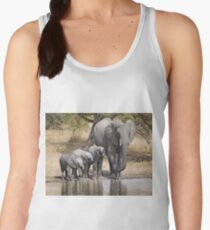 Elephant Mom and Babies Women's Tank Top
