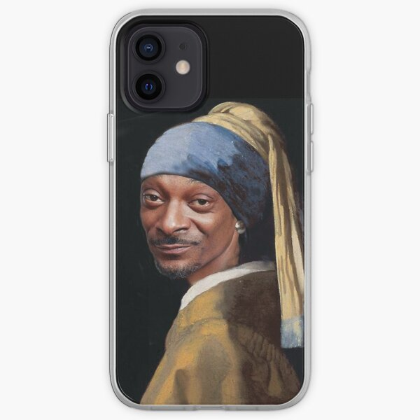 Snoop Dogg, Snoop, Dog, Rapper with a pearl earring, Girl with a pearl earring, Johannes Vermeer, famous painting, masterpiece iPhone Soft Case
