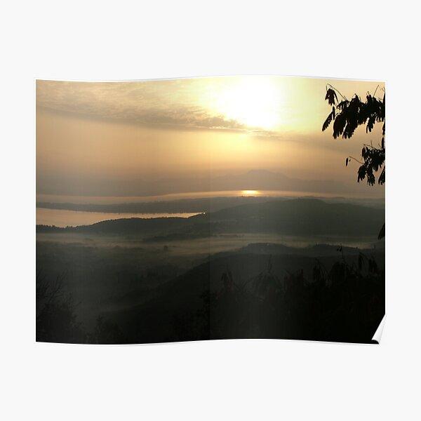 Good Morning! [Misty Sunrise] - Chlomos, Corfu, Greece Poster