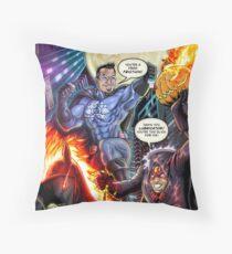 SheVibe Presents - Dean Elliott, The Sliquid Lubricator Cover Art Throw Pillow