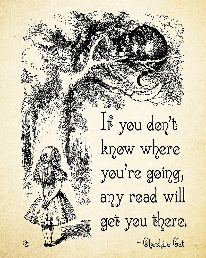Quotes From Alice In Wonderland Alice In Wonderland Quote  Any Road  Cheshire Cat Quote  0106