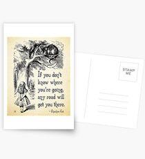 Alice im Wunderland-Zitat - jede mögliche Straße - Cheshire-Katzen-Zitat - 0106 Postkarten