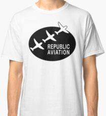 Republic Aviation Repro Logo (Black Ver.) Classic T-Shirt
