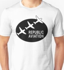 Republic Aviation Repro Logo (Black Ver.) Unisex T-Shirt