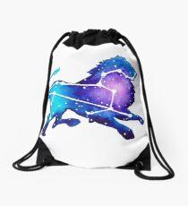 Leo Zodiac Constellation Watercolor Painting Drawstring Bag