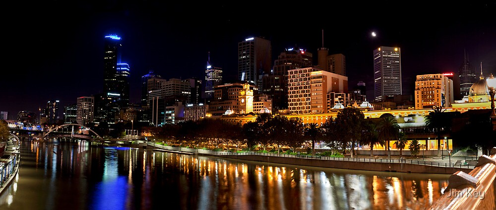 The Yarra River - Central Melbourne at Night by Jim Key