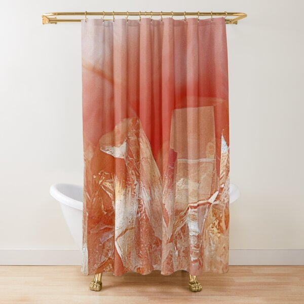 Crystal Peach Shower Curtain