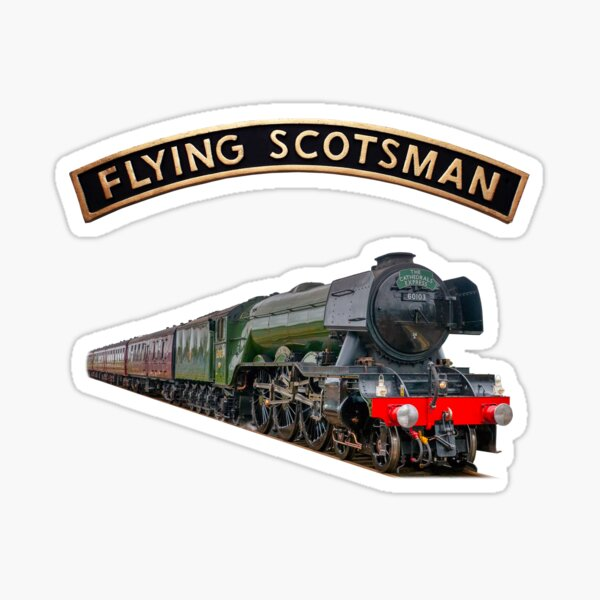 The Flying Scotsman and Nameplate Sticker