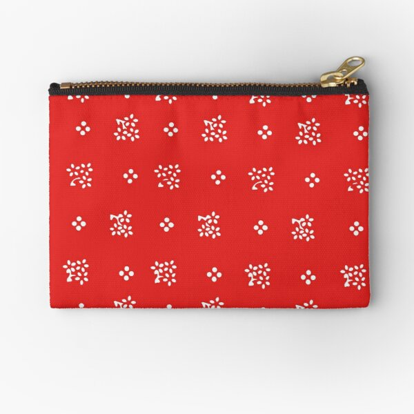 Historic vintage scatter flowers in a modern bright red Zipper Pouch