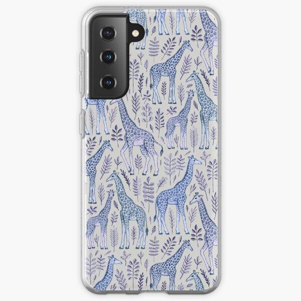 Blue Giraffe Pattern Samsung Galaxy Soft Case