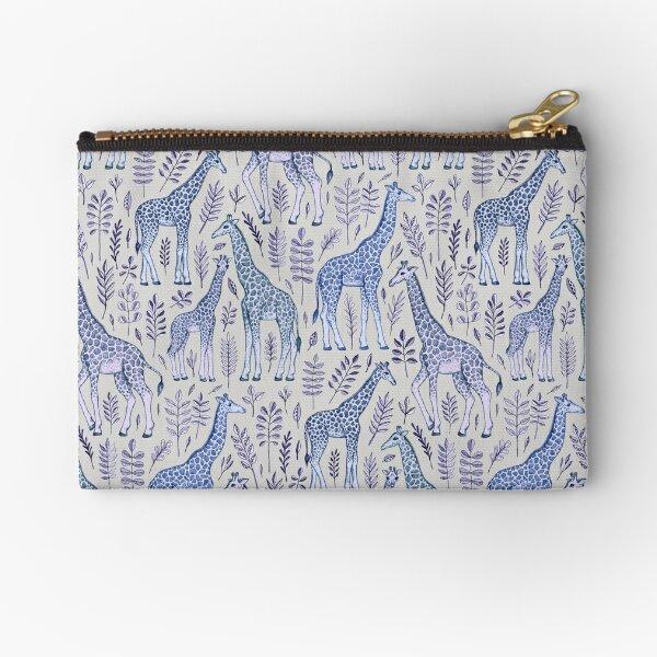 Blue Giraffe Pattern Zipper Pouch