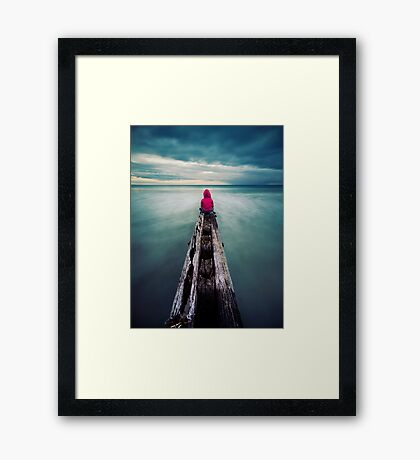 To have the world in front of you. Framed Print