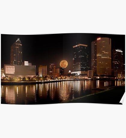City of Tampa Nightscape Poster