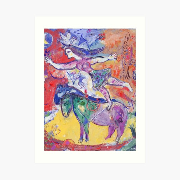 Horse scene Art Print